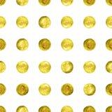 Guld- konfettier blänker bakgrund Royaltyfri Foto