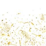 Guld- konfettier Guld- textur blänker vektor illustrationer