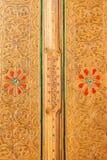 Guld- konststilbakgrund Thailand Royaltyfri Fotografi
