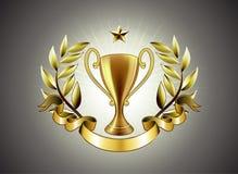 guld- kopp royaltyfri illustrationer