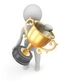 Guld- kopp för utmärkelse Fotografering för Bildbyråer