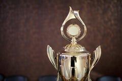 Guld- kopp för vinnare 1st ställebelöning Royaltyfria Foton