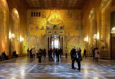 guld- korridor stockholm för stad arkivbilder