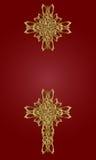 guld- kors Arkivbild