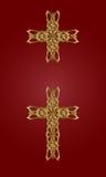 guld- kors Royaltyfri Bild