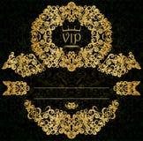 Guld- kort royaltyfri illustrationer