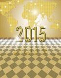 2015 guld- kort Arkivfoton