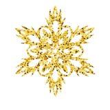 Guld- kort för jul med snöflingan Royaltyfria Foton
