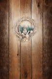Guld- kran för jul Arkivfoto