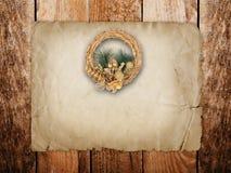 Guld- kran för jul Arkivfoton