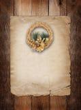 Guld- kran för jul Royaltyfria Foton