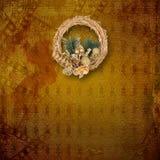 Guld- kran för jul Royaltyfri Bild