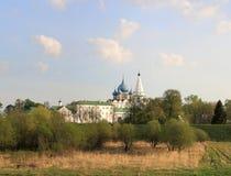 guld- kremlin cirkel suzdal russia arkivfoton