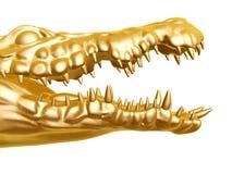 Guld- krokodil Royaltyfria Foton