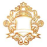 guld- krona Arkivbild