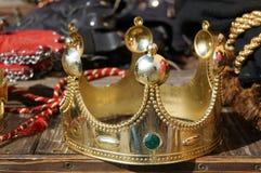 Guld- krona Royaltyfria Foton