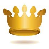 guld- krona Fotografering för Bildbyråer