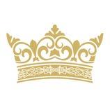 Guld- krona i vektorer Arkivbilder
