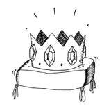 Guld- krona med juvlar vektor illustrationer