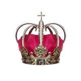 Guld- krona med juvlar royaltyfri foto