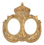 Guld- kronabildram Royaltyfri Fotografi