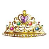 Guld- kronavektor Royaltyfri Foto