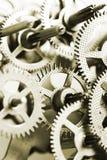 guld- kugghjul Arkivbild