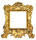 Guld- kunglig bildram Royaltyfria Bilder