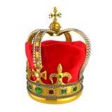 Guld- kunglig krona med juvlar Royaltyfria Bilder