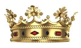 guld- kunglig person för krona Arkivbild