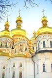 Guld- kupoler av Kiev-Pechersk Lavra, Kyiv, Ukraina Fotografering för Bildbyråer