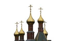 Guld- kupoler av rysskyrkan Royaltyfria Foton