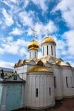 Guld- kupoler på Moskva Royaltyfria Foton