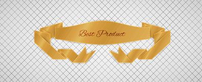 Guld- kvalitets- etikett Arkivbild
