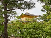 guld- kyoto paviljong Arkivfoton