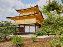 guld- kyoto paviljong Royaltyfri Bild
