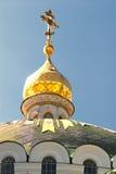 guld- kyrklig kupol Royaltyfri Fotografi