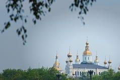 guld- kyrklig kupol Arkivbilder