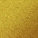 Guld- lädertexturbakgrund Royaltyfri Bild