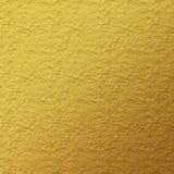 Guld- lädertexturbakgrund Royaltyfria Bilder