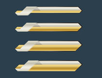 Guld- lägre tredje baner Royaltyfria Bilder