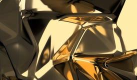 Guld- låg Poly Shape Closeupbakgrund Arkivbild