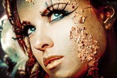 guld- lady fotografering för bildbyråer