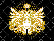 guld- lady Royaltyfria Foton