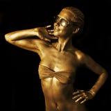 guld- lady Royaltyfri Bild