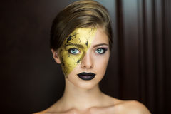 guld- lady Royaltyfria Bilder