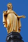 guld- lady mary vår saintstatyoskuld Royaltyfri Fotografi