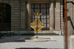 Guld- lag i Genèveborggård royaltyfria foton
