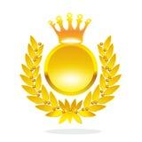 guld- lagrarkran Royaltyfri Fotografi