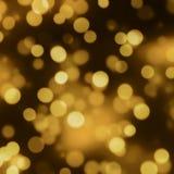 guld- lampor Royaltyfri Fotografi